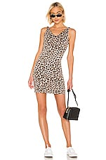 MONROW Leopard V Dress in Dust