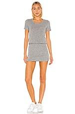 MONROW Granite Thermal Pocket T Dress in Granite