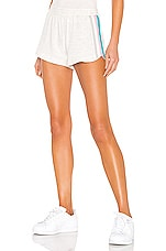 MONROW Lounge Summer Stripes Short in Ash