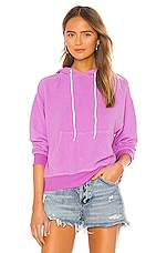MONROW Reversed College Pullover in Neon Violet