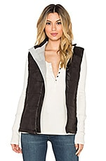 GILET SOFT LEATHER PUFFER