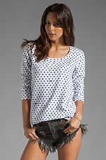 Polka Dot Boyfriend Sweatshirt in White