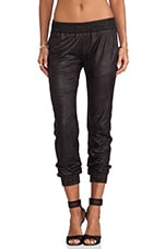 Vegan Leather Sweats in Black