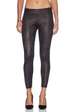 Soft Leather Basic Leggings in Black