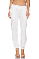 Crepe Skinny Sweatpant in White
