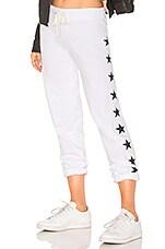 MONROW Foil Stars Vintage Sweats in White
