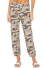 MONROW Camo Vintage Sweats With Stardust in Green Tea
