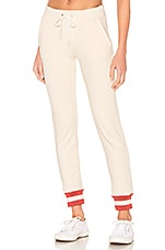 MONROW Sporty Rib Sweatpant in Cream