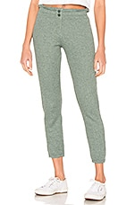 MONROW Thermal Elastic Waist Sweats in Cactus