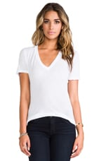 Tissue V Neck Tee in White