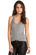 Rayon Slub Oversized Tank in Heather