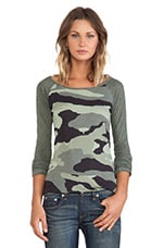 Oversized Camo Print Rock Tee in Camo