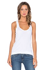 Rib Racerback Tank in White