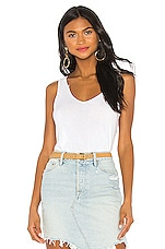 MONROW Cutout Binding Tank in White