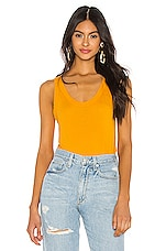 MONROW Rib Relaxed Tank in Curry