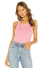 MONROW Tissue Thermal Narrow Tank in Peachy Pink