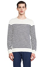 Stripe Pullover in Cream & Navy