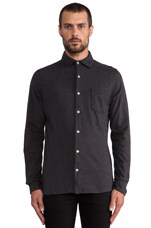 Button Front Shirt in Charcoal