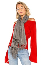 Hat Attack Chic Muffler Scarf in Grey