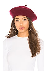 Hat Attack Wool Beret in Burgundy