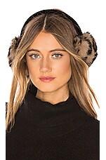 Hat Attack Luxe Knit Rabbit Earmuffs in Leopard