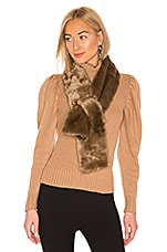 Hat Attack Faux Fur Pull Thru in Taupe