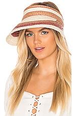 Hat Attack Summer Stripe Visor in Natural