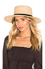 Hat Attack Classic Boater Hat in Natural