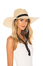 Hat Attack Chinstrap Jules Sunhat in Black