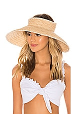 Hat Attack Whipstitch Roll Up Travel Visor in White
