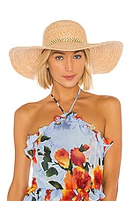 Hat Attack Ultimate Sunhat in Natural & Beaded Trim