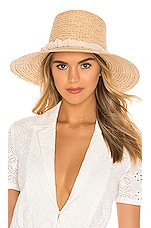 Hat Attack Lampshade Hat in Ivory & Stripe