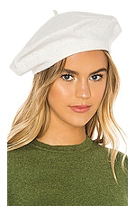 Hat Attack Classic Wool Beret in Ivory