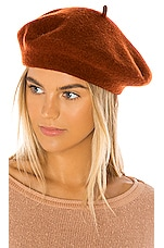 Hat Attack Classic Wool Beret in Tobacco
