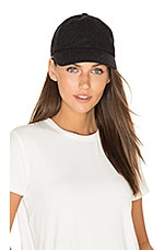 Baseball Cap in Heather Black