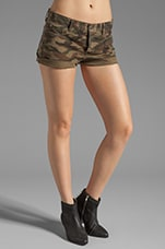 Chevron Sequin Shorts in Buff Multi