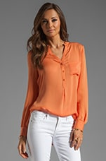 Henley Blouse in Tumeric
