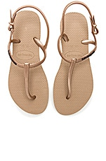 Havaianas Freedom Slim Sandal in Rose Gold