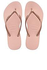 Havaianas Slim Sandal in Ballet Rose