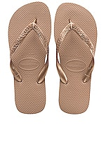 Havaianas Top Tiras Sandal in Rose Gold