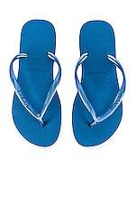 Havaianas Slim Flip Flop in Blue