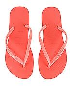 Havaianas Slim Flip Flop in Cyber Orange
