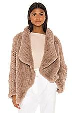 HEARTLOOM Ensley Faux Fur Coat in Fawn