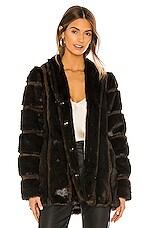 HEARTLOOM Tori Faux Fur Coat in Mink