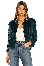 HEARTLOOM Rosa Fur Jacket in Teal