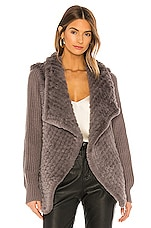 HEARTLOOM Tilly Faux Fur Coat in Smoke