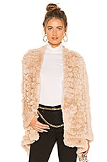 HEARTLOOM Tilda Fur Jacket in Tawny