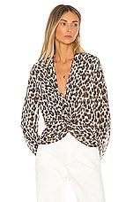 HEARTLOOM Camille Blouse in Leopard