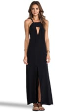 Helena Quinn Triangle Cut Out Maxi Dress in Black