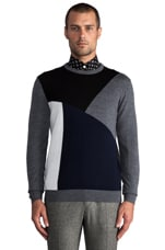 Intarsia Sweater in Navy